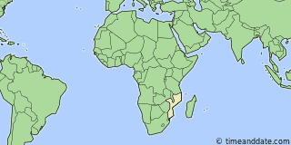 Location of Maputo