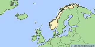 Location of Larvik