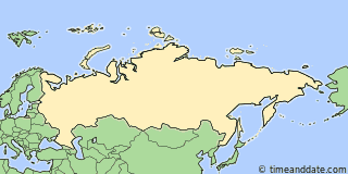 Location of Yekaterinburg