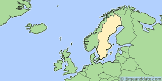 Location of Örebro