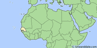 Location of Dakar
