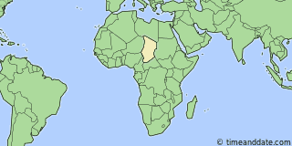 Location of Moundou