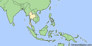 Location of Bangkok