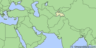 Location of Dushanbe