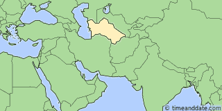 Location of Ashgabat