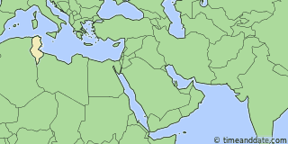 Location of Tunis