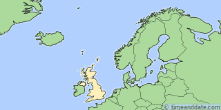 Location of Edinburgh