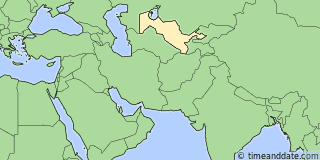 Location of Tashkent