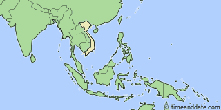 Location of Hanoi