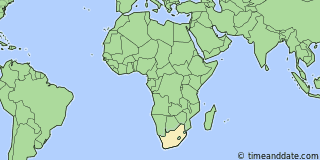 Location of Cape Town