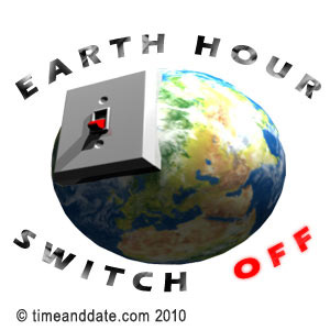 It's time for the lights to switch off when Earth Hour comes.