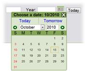 Calendar Pop-up