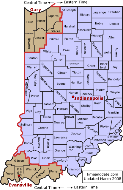 eFile IN: Time Zones for State of Indiana – Customer Feedback