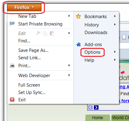 how to turn on javascript in firefox