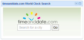 World Clock Search Plug-in for iGoogle
