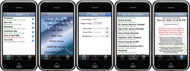 image showing different views on the iphone application