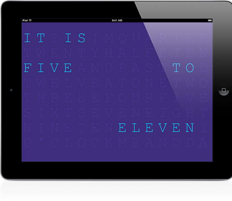 Word Clock on iPad