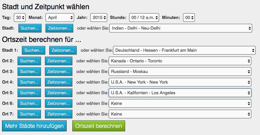 Duration Berechnen : zeitzonen rechner hilfe ~ Themetempest.com Abrechnung