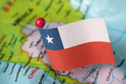 Chile Map illustration