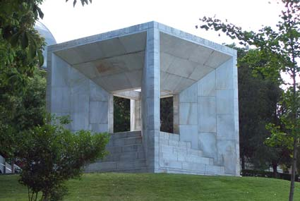 View of the monument to the Spanish Constitution of 1978 in Chamartín district in Madrid.