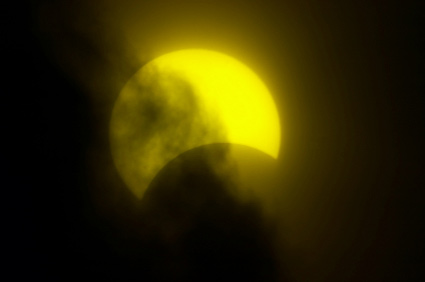 Partial solar eclipse, Novosibirsk, Russia, 29 March 2006