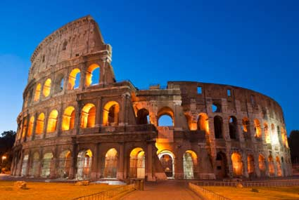 the colosseum in rome is one of the most famous roman ruins