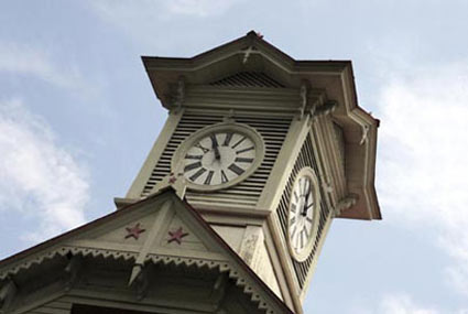 The Sapporo Clock Tower in Japan.