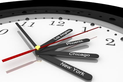 Time Zone clock for USA