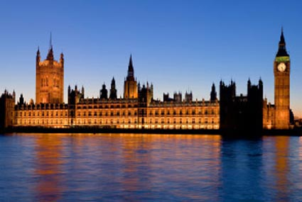 UK: The Palace of Westminster with Big Ben at dusk