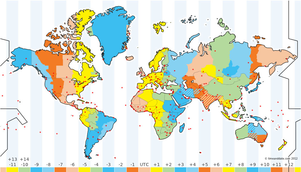 My Blog TIME ZONE MAP