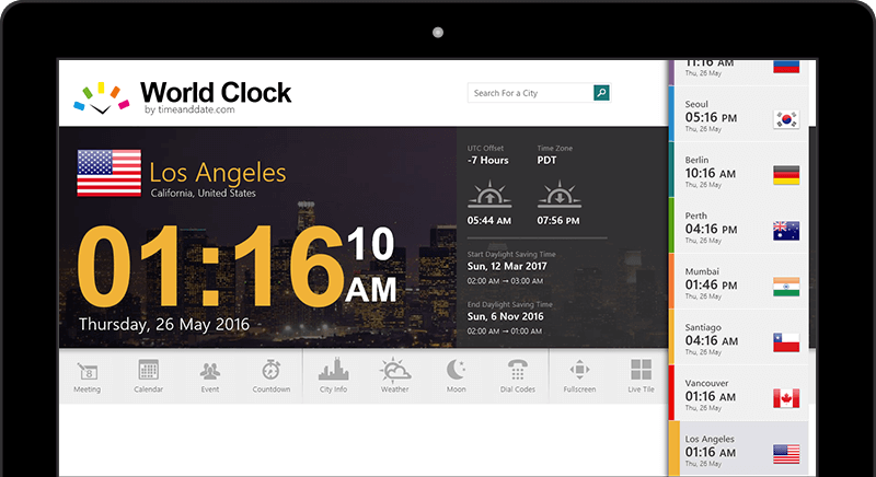 World Clock For Windows 8 10
