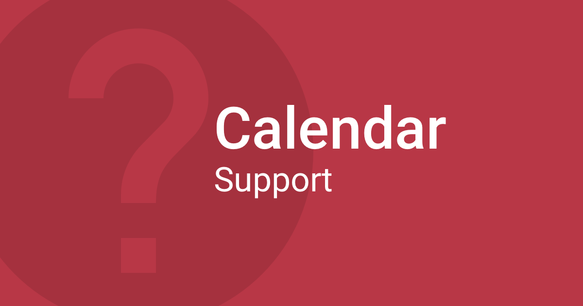 faq setting up a calendar