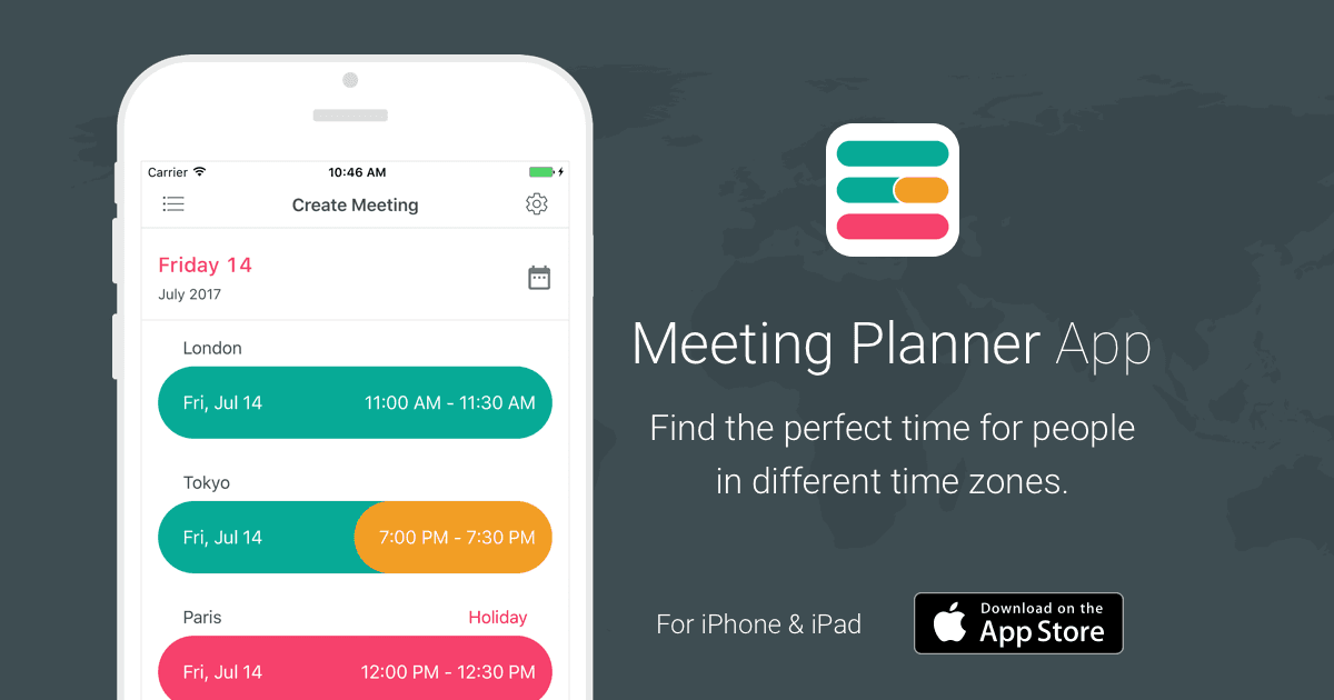 Meeting Planner App by timeanddate com - for iPhone & iPad