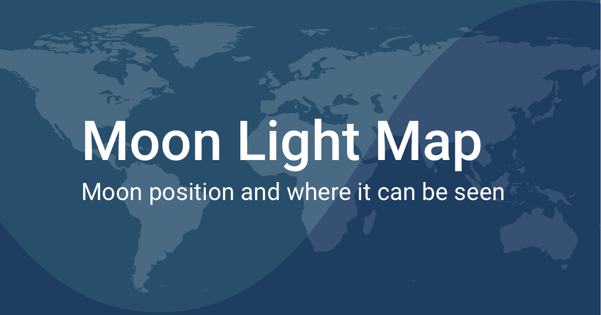 Moon Light World Map
