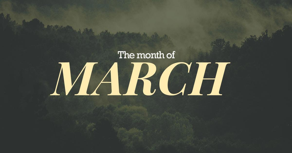 "Résultat de recherche d'images pour ""the month of march"""