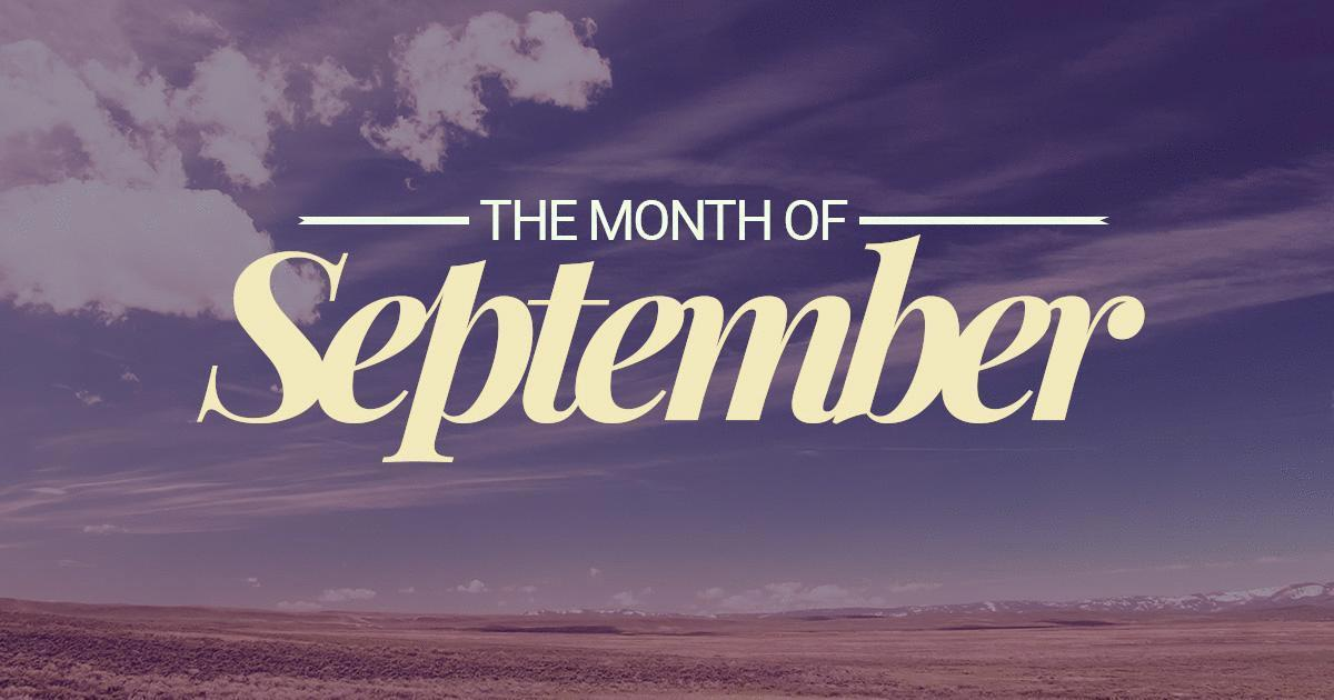 September Ninth Month Of The Year