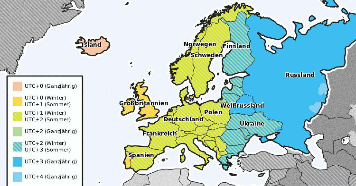 Zeitzone Spanien