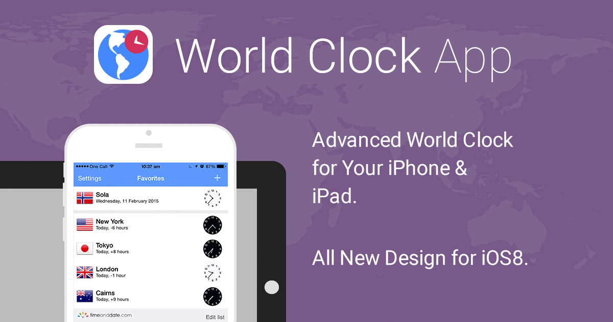 World Clock App by timeanddate com - Support