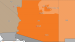 Map showing DST areas for Navajo in Arizona.