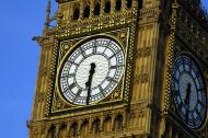 Closeup shot of the big ben tower in London.