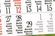 Picture of calendar with Feburary, 29.