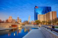 Skyline of downtown Indianapolis, Indiana, USA.