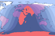 Map of the Total Lunar Eclipse