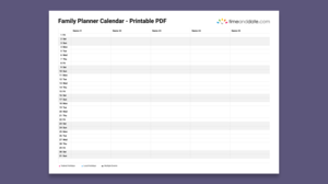 Illustration image of a family calendar planner