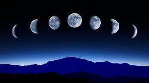 Time lapse of the phases of the Moon