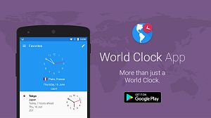 World Clock Android App Promotion