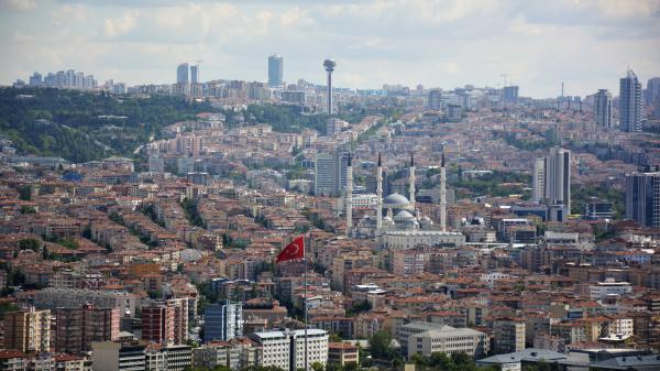 The city of Ankara, Turkey.