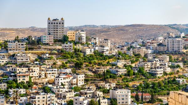 View of the city of Bethlehem, West Bank, Palestinian Territories.