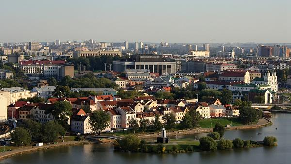 View on the historical center of Minsk