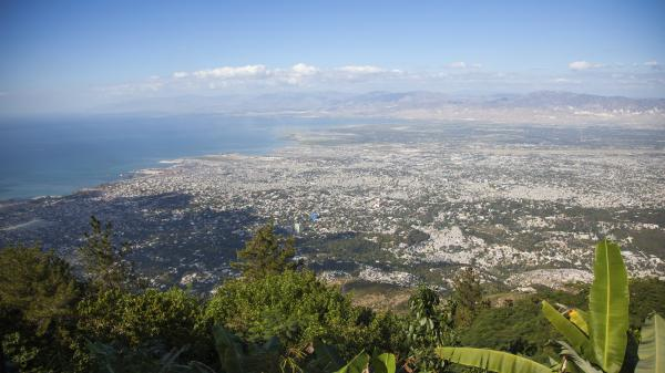 Port au Prince, Haiti, pictured from above.